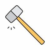 Бейте икону молотком Стоковая Фотография RF