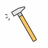 Бейте икону молотком Стоковое Фото