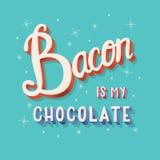 Бекон мой дизайн плаката оформления литерности руки шоколада современный Иллюстрация штока