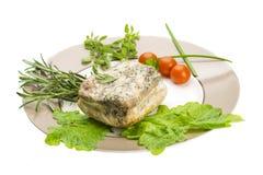 Бекон с овощами Стоковая Фотография