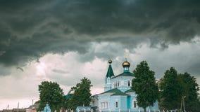 Беларусь St. John церковь монастыря Korma в деревне Korma, районе Dobrush, Беларуси Известная православная церков церковь против видеоматериал
