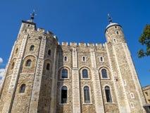 Белая башня внутри башни Лондона Стоковое Изображение