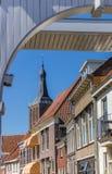 Белая башня моста и церков Hasselt Стоковое Изображение RF
