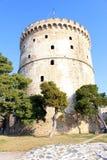 Белая башня, Thessaloniki, Греция Стоковые Фотографии RF