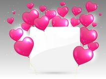 Белая бумага с сердцами. Иллюстрация вектора. Стоковые Изображения RF