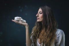 белая ведьма Стоковые Изображения