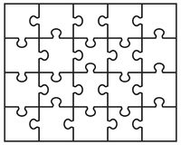 Белая головоломка зигзага Стоковое Фото