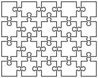Белая головоломка зигзага Стоковые Фото