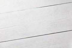 Белая деревянная поверхность как деревянная предпосылка Взгляд сверху Стоковые Изображения RF
