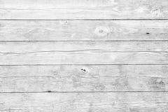 Белая деревянная предпосылка планок Стоковые Изображения