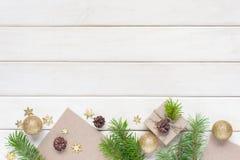 Белая деревянная предпосылка праздника Стоковая Фотография RF