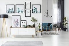 Белая живущая комната иллюстрация штока