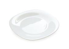 Белая изолированная плита Стоковые Изображения