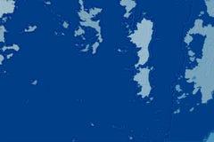 Белая и голубая абстрактная текстура предпосылки Карта фантазии с северным бечевником, морем, океаном, льдом, горами, облаками стоковые изображения rf