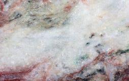 Белая и красная текстура минерала listvenite Стоковые Фотографии RF