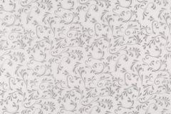 Белая и серая текстура, безшовные флористические лист и предпосылка дизайна свирли стоковое изображение