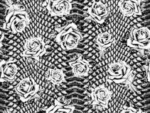 Белая и черная кожа змейки иллюстрация штока