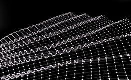 Белая и черная перспектива предпосылки конспекта технологии 3d представляют иллюстрация вектора