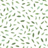 Белая картина с зелеными листьями бесплатная иллюстрация