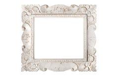 Белая картинная рамка стоковое фото