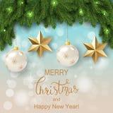 Белая карточка с венком рождества также вектор иллюстрации притяжки corel бесплатная иллюстрация