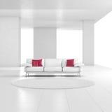 Белая комната с ковром