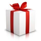 Белая коробка подарка Стоковые Изображения