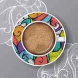 Белая кружка кофе с поддонником бесплатная иллюстрация