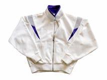 Белая куртка изолированная на белой предпосылке Стоковое Изображение RF