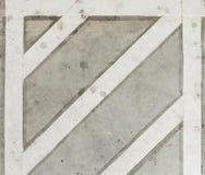 Белая линия движения на поле цемента Стоковое фото RF