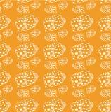 Белая линия картина рыб на желтой предпосылке иллюстрация штока