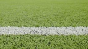 Белая линия футбольного поля Съемка слайдера конца-вверх горизонтальная акции видеоматериалы
