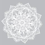 Белая мандала вектора Стоковые Фотографии RF