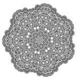 Белая мандала с цветками и звездами Стоковые Фотографии RF