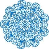 Белая мандала с цветками и звездами Стоковое Изображение RF
