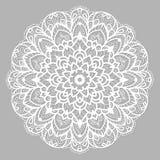 Белая мандала с этническим орнаментом Стоковая Фотография