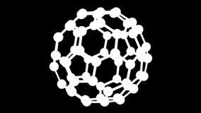 Белая модель атома поворачивает вокруг перевод 3d бесплатная иллюстрация