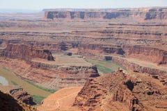 Белая оправа в национальном парке Canyonlands Юта Стоковое Фото