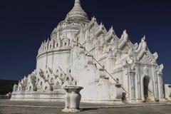 Белая пагода пагоды Mingun Thein Дэн Mya Hsinbyume, Mya Стоковые Фото