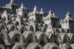 Белая пагода пагоды Mingun Thein Дэн Mya Hsinbyume, Mya Стоковая Фотография RF