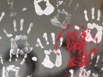 Белая печать руки Стоковые Фотографии RF