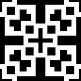 Белая предпосылка и repeted чернотой картина Стоковые Фото