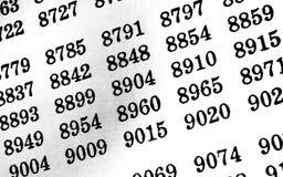 Белая предпосылка с много номеров стоковое изображение rf
