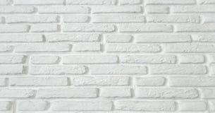 Белая предпосылка текстуры кирпичной стены grunge, кирпичная стена покрашенная с белой краской стоковые фотографии rf