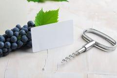 Белая пустая визитная карточка для ваших логотипа или текста стоковая фотография rf