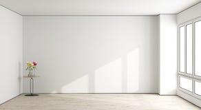 Белая пустая живущая комната иллюстрация вектора