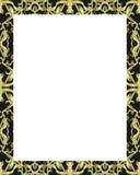 Белая рамка с украшенными границами Стоковое Изображение