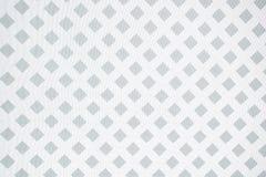 Белая решетка на сером дизайне Стоковая Фотография RF