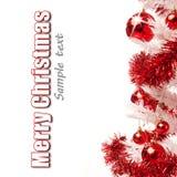 Белая рождественская елка с настоящими моментами Стоковое Изображение
