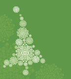 Белая рождественская елка Стоковое фото RF